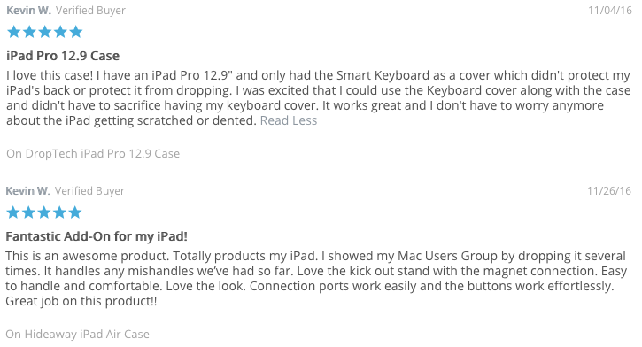 Gumdrop iPad Reviews